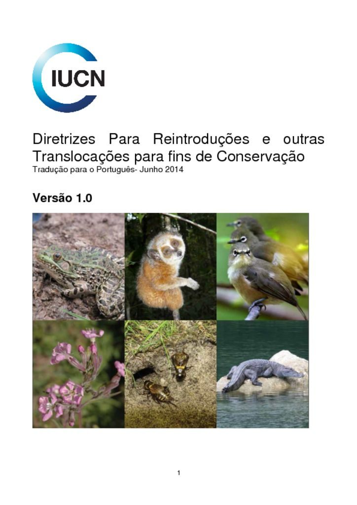 thumbnail of iucn rsg guidelines for reintroductions portuguese 06.2014