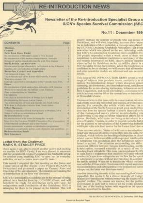 Re-introduction News December 1995