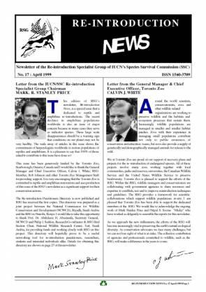 Re-introduction News April 1999