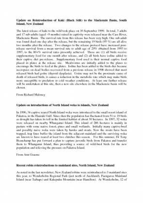 RSG Oceania Newsletter 1999