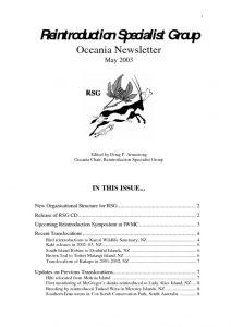 thumbnail of RSG Oceania Newsletter 2003