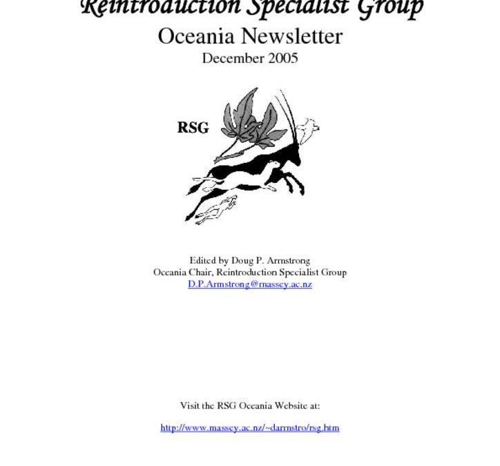 RSG Oceania Newsletter 2005
