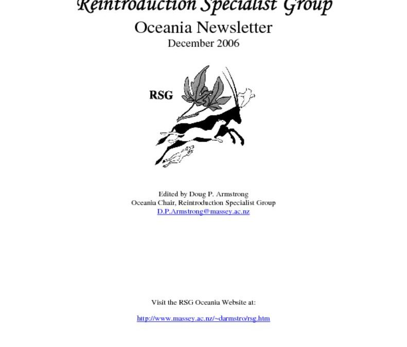RSG Oceania Newsletter 2006