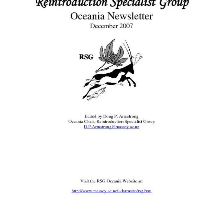 RSG Oceania Newsletter 2007